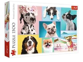 Trefl Puzzle 1500 elementów Słodkie Pieski