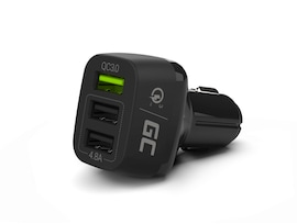 GC® Car Charger 42 W 3-Port USB 3.0 QC Quick Charge for iPhone iPad Samsung Honor HTC Huawei LG  Sony Xiaomi