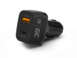 GC® Vehicle Car charger Green Cell USB QC Quick Charge 3.0 and USB-C Power Delivery PD for Samsung iPhone iPad