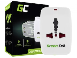 GC®Universal Travel Adapter Green Cell for Electrical Outlet USA / UK / AUS / China