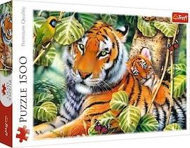 Trefl Puzzle 1500 elementów Dwa tygrysy