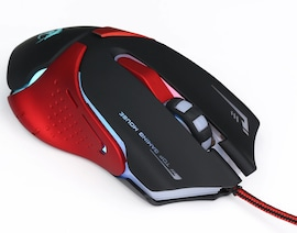 Optical Professional Gaming Mouse 6 Buttons LED 3200DPI  Black/Red