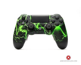 AimControllers Custom Dualshock 4 Aim Storm Green with 4 Paddles.