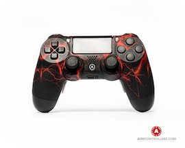 AimControllers Custom Dualshock 4 Aim Storm Red with 4 Paddles.