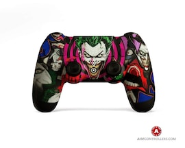 AimControllers Custom Dualshock 4 Joker Color with 4 Paddles.