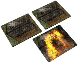 2D terrain - Houses for Warhammer and other miniature games D&D