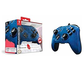 Nintendo Switch PDP Faceoff Deluxe Switch Controller + Audio Camo Blue
