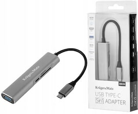 HUB Adapter USB-C Kruger&Matz 5w1 PD 4K SD USB