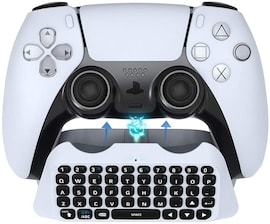 3.5mm Wireless Gamepad Keyboard Bluetooth 3.0 Controller Chat Pad for SONY PS5 Dualsence Built in Speaker Keyboard White
