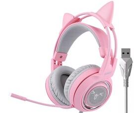 Somic G951S Pink Słuchawki gamingowe 7.1 przewodowe USB LED nauszne z mikrofonem