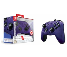 Nintendo Switch PDP Faceoff Deluxe Switch Controller + Audio Camo Purple