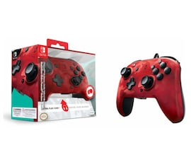 Nintendo Switch PDP Faceoff Deluxe Switch Controller + Audio Camo Red