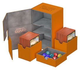 Ultimate Guard Deck Case Twin Flip'n'Tray 160+ Standard XenoSkin Pomarańczowe