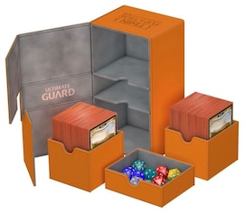 Ultimate Guard Deck Case Twin Flip'n'Tray 200+ Standard XenoSkin Pomarańczowy