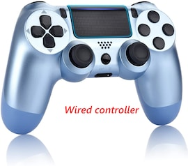 PS4 Wired Controller Dual Shock 4 Gamepad For Sony Playstation 4 Titanium Blue