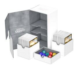 Ultimate Guard Deck Case Twin Flip'n'Tray 200+ Standard XenoSkin Biały