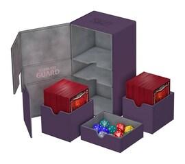 Ultimate Guard Deck Case Twin Flip'n'Tray 200+ Standard XenoSkin Fioletowy