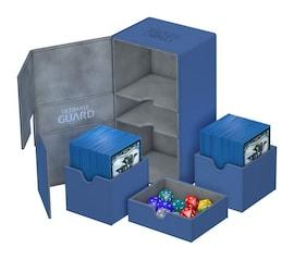 Ultimate Guard Deck Case Twin Flip'n'Tray 200+ Standard XenoSkin Niebieskie