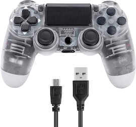 PS4 Playstation 4 Controller Console Control Double Shock 4th Bluetooth Wireless Gamepad Joystick Remote  Translucent