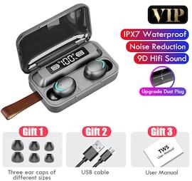 Earbuds Wireless Waterproof Earphones TWS Bluetooth 5.0  with Phone Charging Box Gray