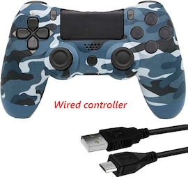 PS4 Wired Controller Dual Shock 4 Gamepad For Sony Playstation 4 Blue Camouflage