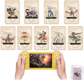 9pcs Magnamalo Palico Palamute Monster Hunter Rise locks Card NFC ntag215 Tag amiibo card for Nintendo Switch Game Nintendo Switch Gaming