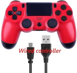 PS4 Wired Controller Dual Shock 4 Gamepad For Sony Playstation 4 Red