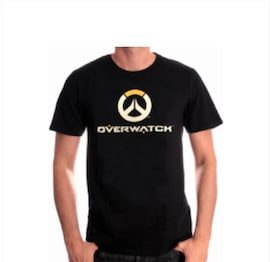 Overwatch - Full Logo T-Shirt (L)  L Black