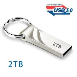 Memory USB Stick U - 3.0 Flash Drives Metal Keychain 2TB