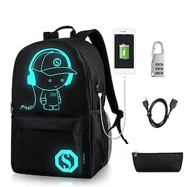 Music Luminous unisex Bagpack with USB Charge and anti-theft lock + Gift