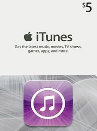 Apple iTunes Gift Card NORTH AMERICA 5 USD iTunes