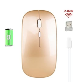 1600 DPI 2.4G Wireless Silent Mouse Rechargeable Gold