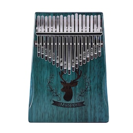 17 Keys Wooden Kalimba African Mahogany Thumb Piano Finger Percussion Music (Reindeer Blue)