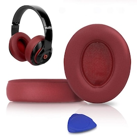 1Pair Replacement Ear Pads Red