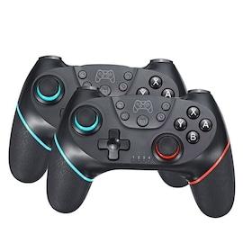 2 Pairs 2020 Bluetooth Pro Gamepad Joystick for Nintendo Switch NS-Switch Pro and NS Mini Black