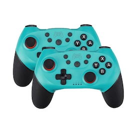 2 Pairs 2020 Bluetooth Pro Gamepad Joystick for Nintendo Switch NS-Switch Pro and NS Mini Blue