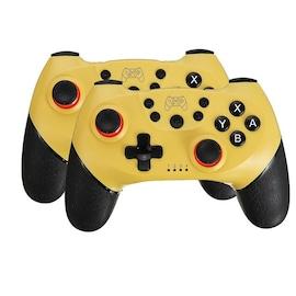 2 Pairs 2020 Bluetooth Pro Gamepad Joystick for Nintendo Switch NS-Switch Pro and NS Mini Yellow