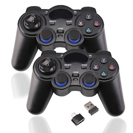2 Pcs 2.4G Wireless Game Controller Gamepad Joystick for PS3 Android TV Box