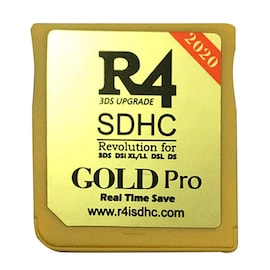 2020 R4 Gold Pro SDHC for DS/3DS/2DS/DSi Revolution Cartridge With USB Adapter