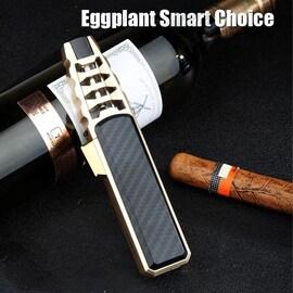 2021 Jobon Kitchen BBQ Cigar Big JET Flames Fire Turbo Torch Fire Grinding Wheel Lighter Without Butane Gas Black