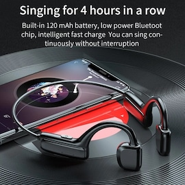 21x new G1 bone conduction Bluetooth wireless sports earphones waterproof, suitable for Android and Apple