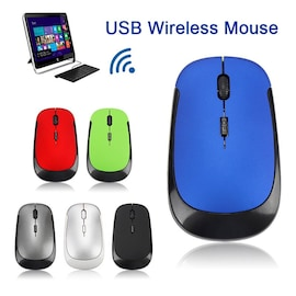 2.4G Wireless Mouse USB 2.0 Receiver Professional for Laptop PC Gamer Black