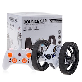 2.4GHz 4CH Remote Control Mini RC Bounce Car Jumping Sumo Car 360 Degree Rotation w/ LED Light and Music