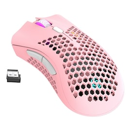 2.4GHz Wireless Gaming Mouse 7 Button Pink