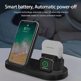 3 in 1 Fast Wireless Charger Black