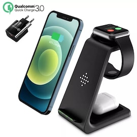 3 in 1 Fast Wireless Charger For Samsung Black