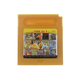 32 Bit Video Game Cartridge Console Card for Pokemon GBA Emerald FireRed with Shiny Label Gaming Gaming