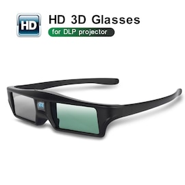 3D Glasses DLP link Rechargeable Battery High Brightness and Contrast Image Flexible Stand Compatible