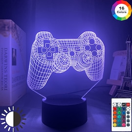 3D LED Lamp Dualshock 4 with Controller and 16 Light Color Changing