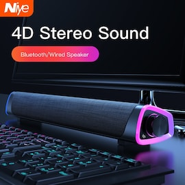 4D Computer Speaker Bar Stereo Sound subwoofer Bluetooth Speaker For Macbook Laptop Notebook PC Music Player Wired Louds